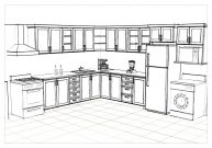 Cocina Replanada Colon-Perspectiva